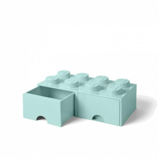 d6c53e666 LEGO úložný box 8 s šuplíky aqua