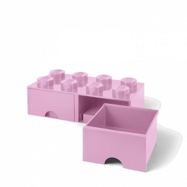 365ff9b09 LEGO úložný box 8 s šuplíky světle růžový